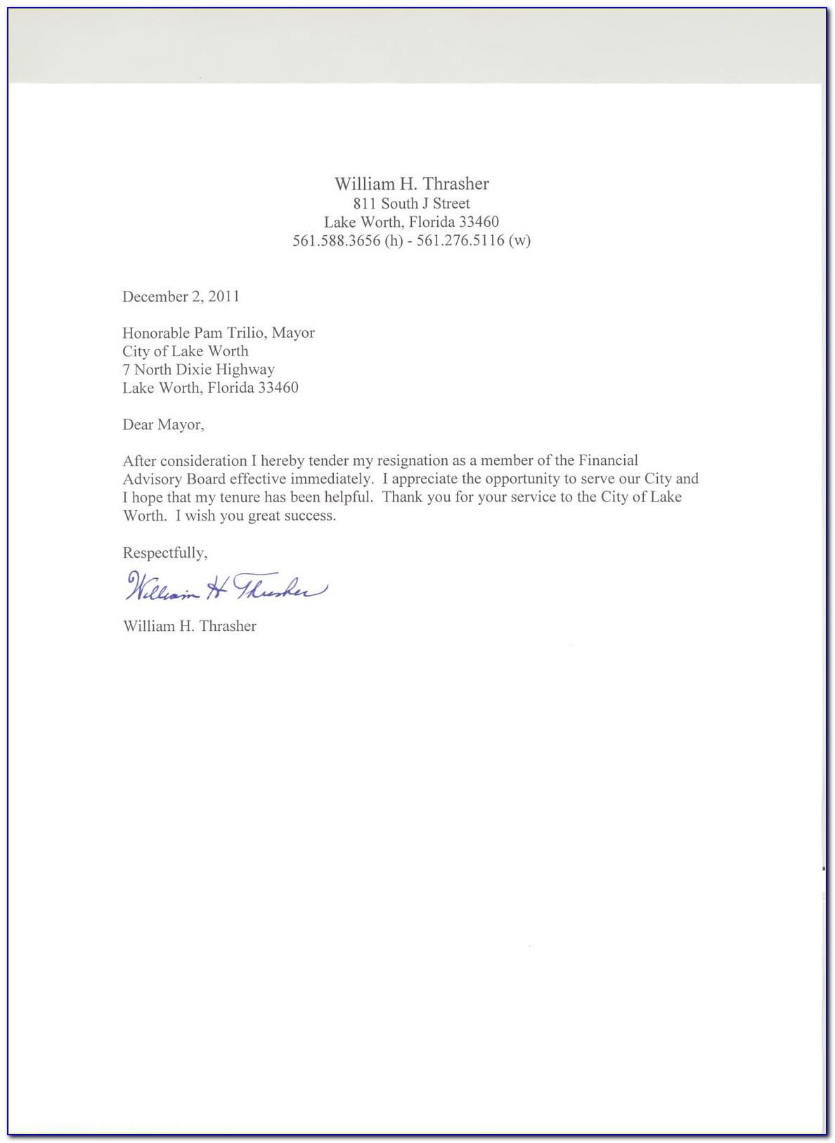 Retirement Resignation Letter Template Free