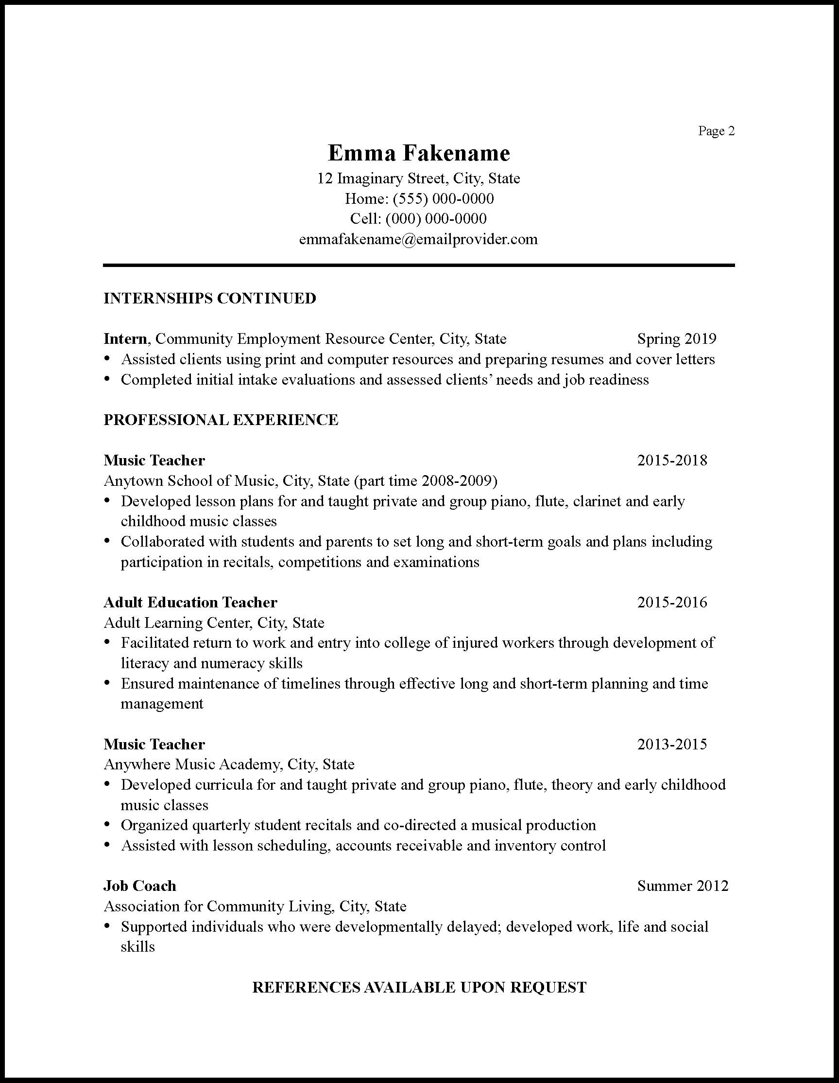Sample Cv Resume Pdf Download