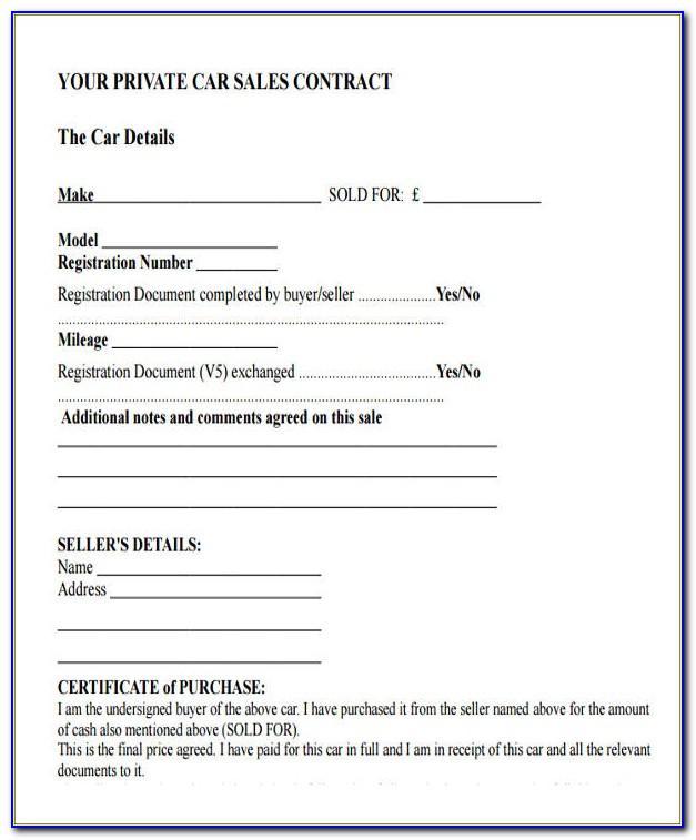 Sample Receipt Letter For Car Sale