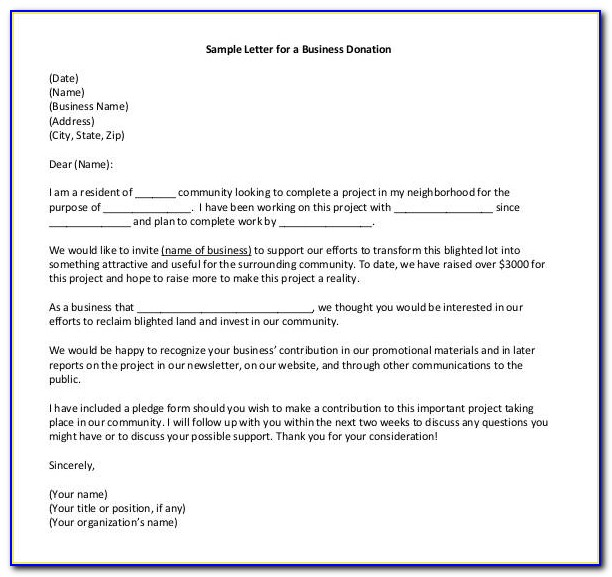 Sample Request For Proposals Template