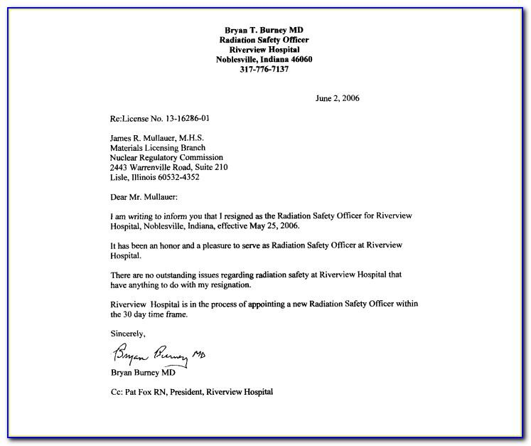 Sample Resignation Letter Due Personal Reasons