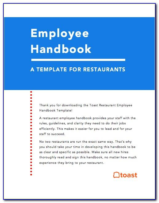 Sample Restaurant Employee Handbook Pdf