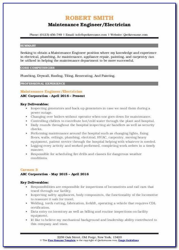 Sample Resume For Cleaning Job In Australia