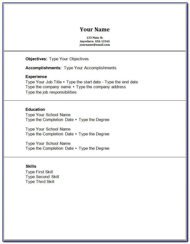 Sample Resume For First Job High School