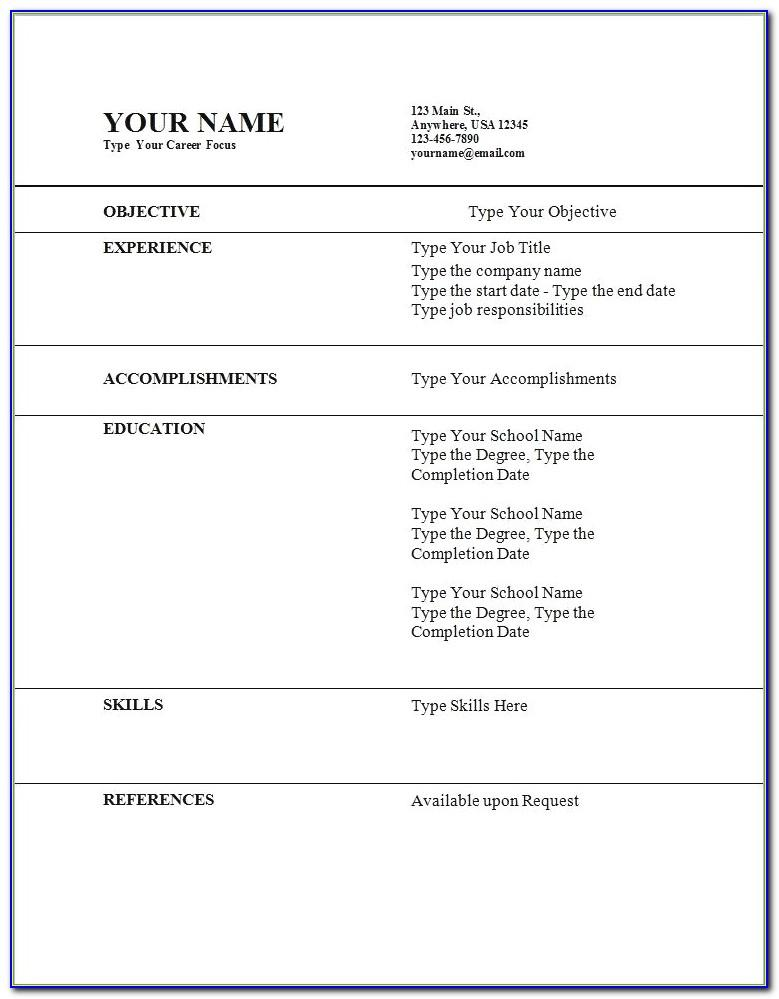 Sample Resume For First Job Teenager