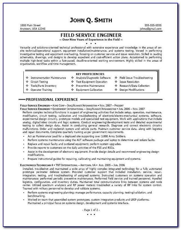 Sample Resume For Freshers Doc Free Download