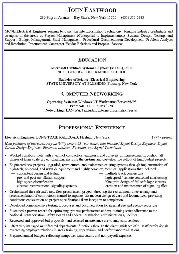 Sample Resume For Freshers Pdf Download