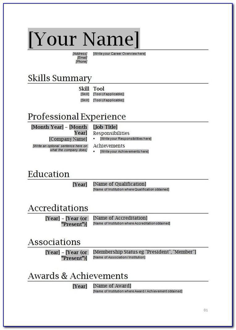 Sample Resume For Nurses Free Download