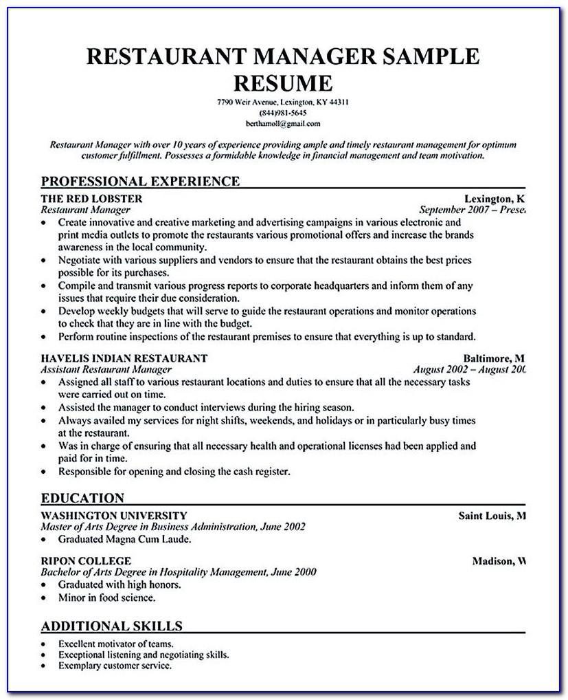 Sample Resume Format For Registered Nurse