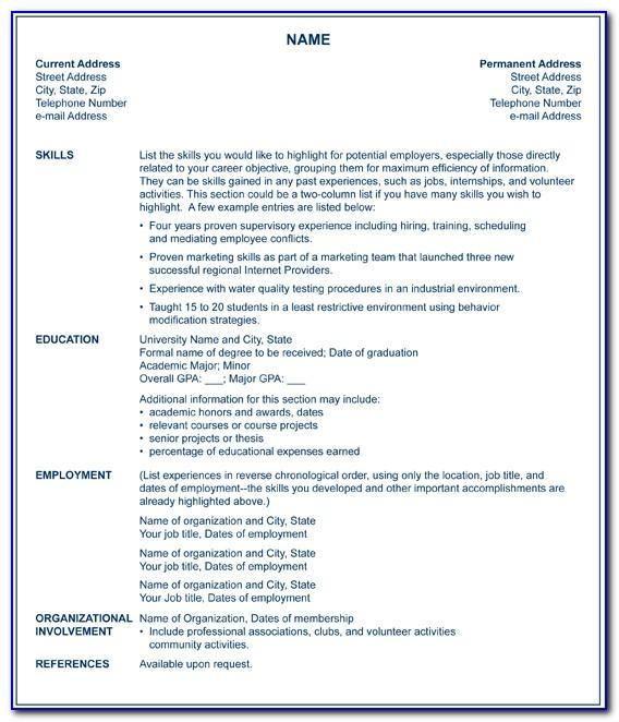 Sample Resume Objective For Laborer