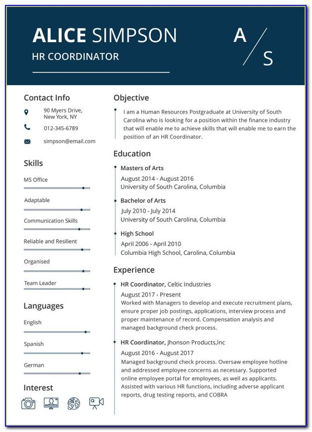 Sample Resume Word Document Free Download
