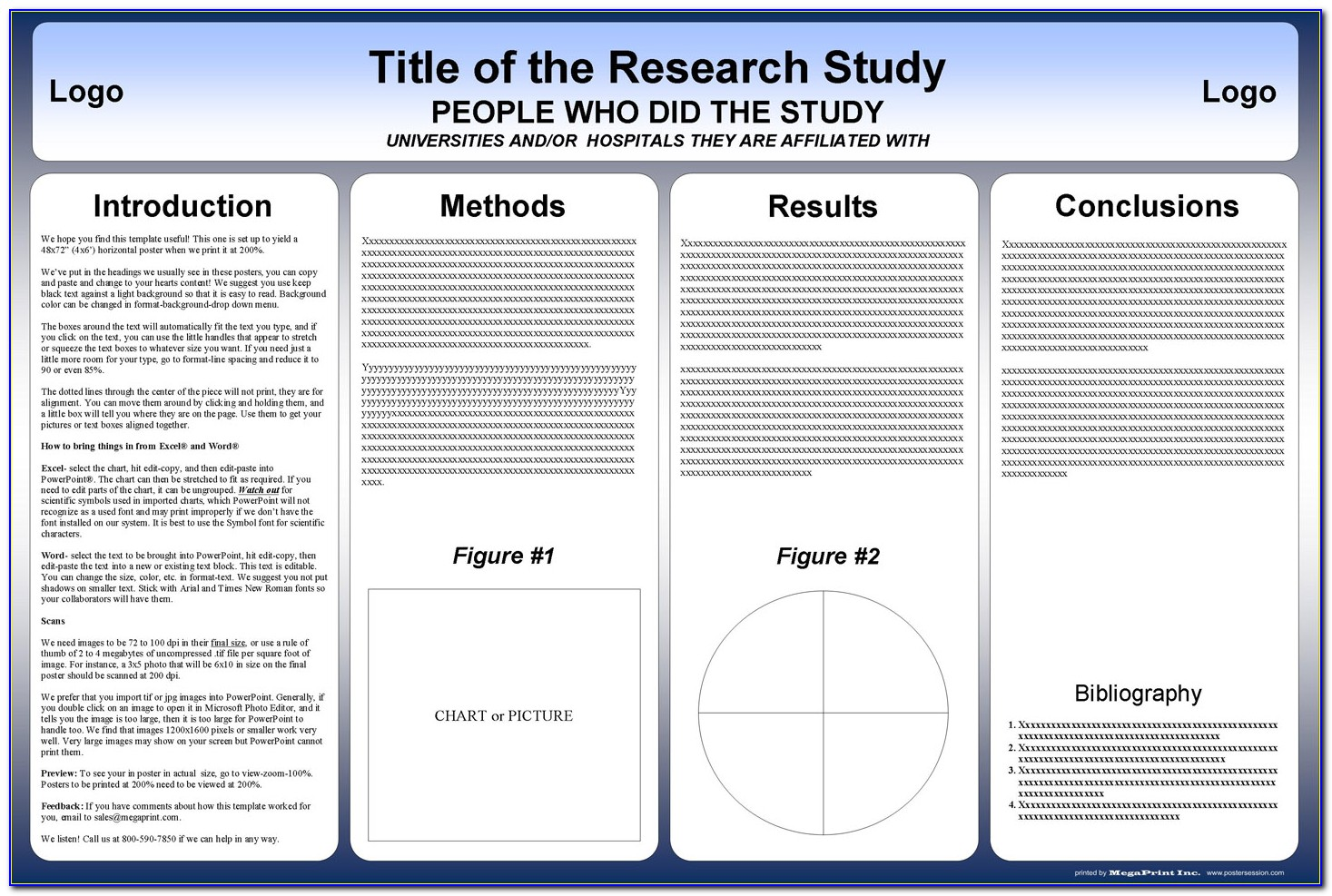 Scientific Poster Powerpoint Templates A3