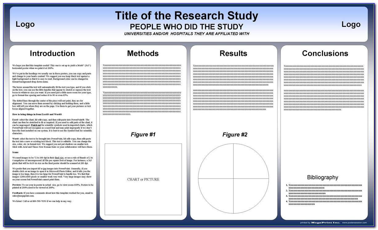 Scientific Poster Template Word