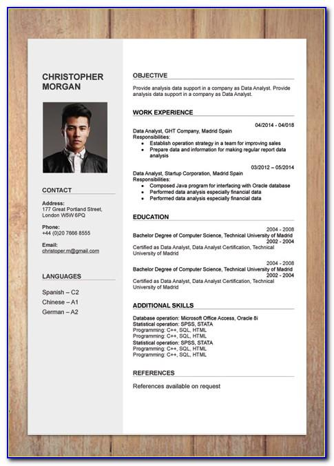 Simple Cv Format Template Free Download