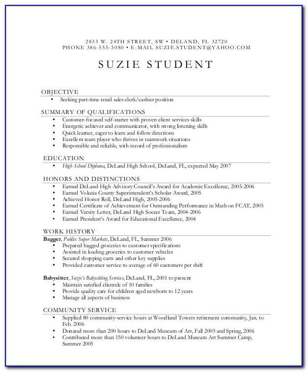 Student Cv Template For First Job Nz