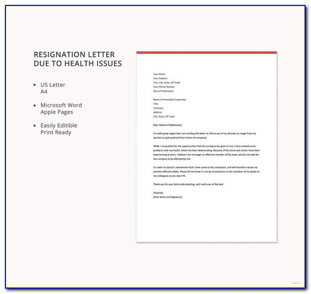 Teacher Resignation Letter Template Free