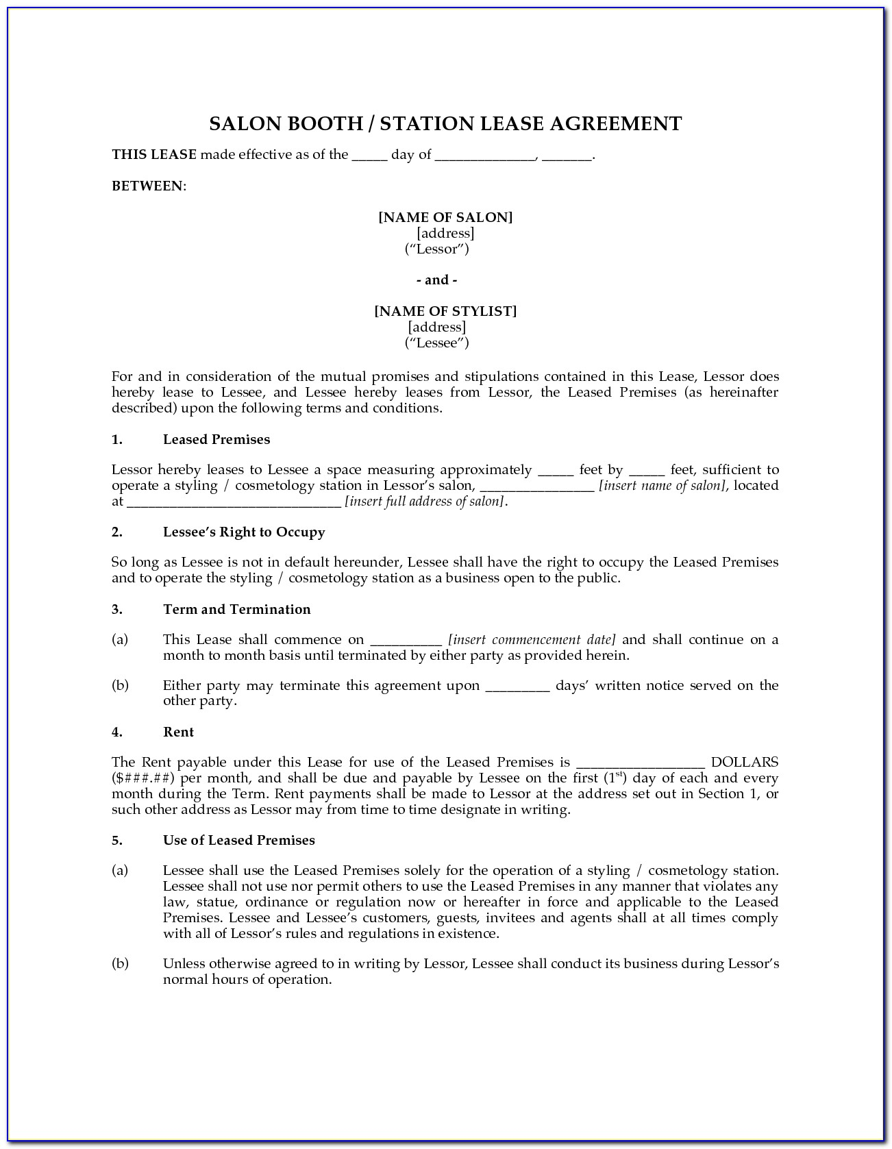 Tenancy Agreement Renewal Template Uk