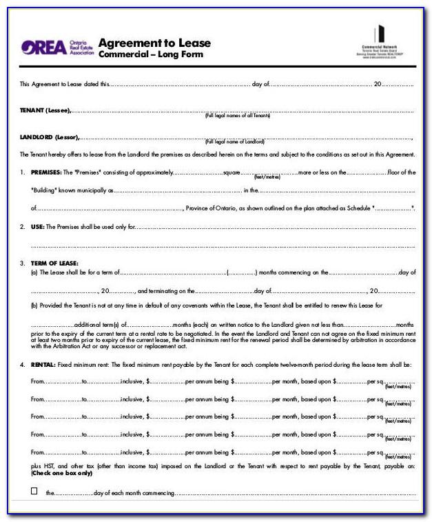 Texas Real Estate Lease Agreement Form