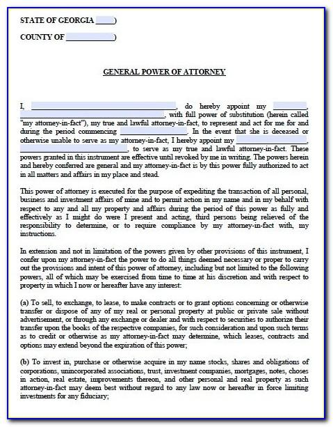 Texas Real Estate Power Of Attorney Form Pdf