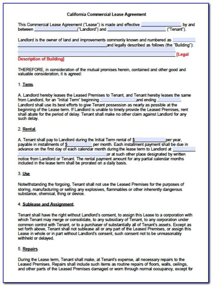 Texas Real Estate Residential Lease Agreement