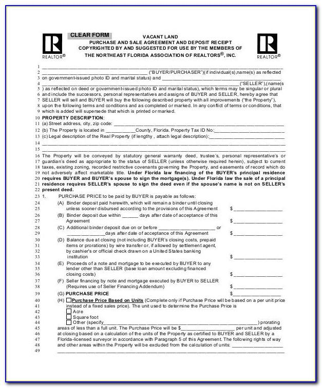 Texas Real Estate Sales Contract Form