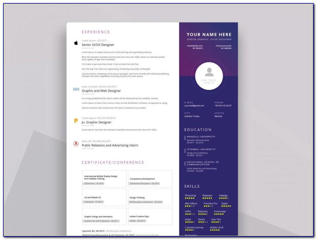 Tile Resume Cv Vcard Portfolio Html Template Free Download