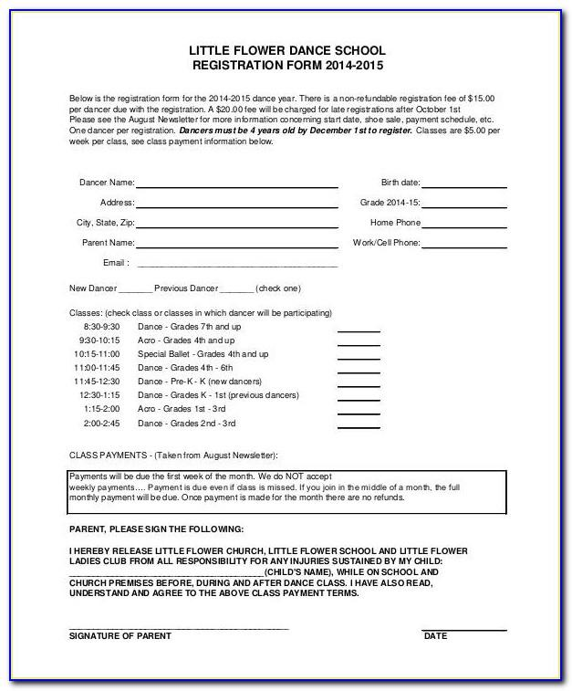 Training Registration Form Template Word