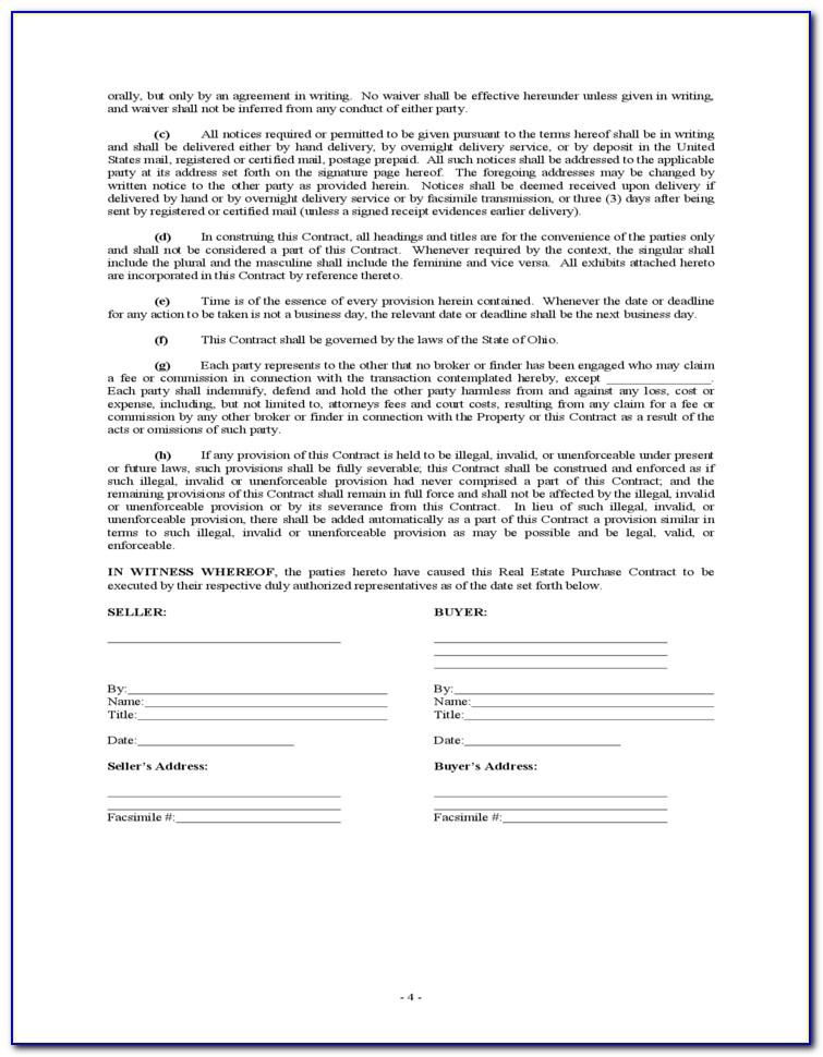 Virginia Real Estate Purchase Contract Form