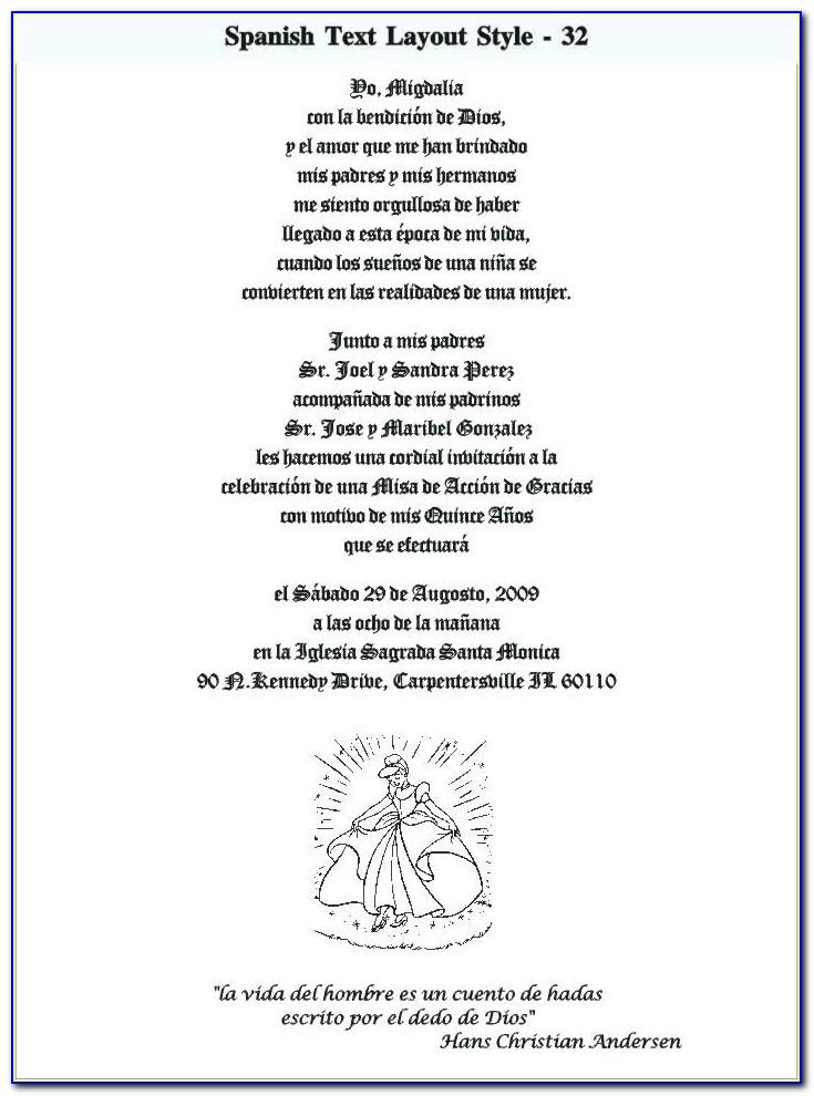 Wedding Invitation Wording Samples In Spanish