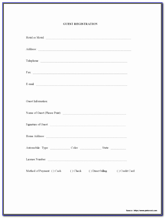 5k Race Entry Form Template