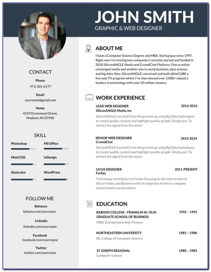 Best Professional Resume Template Free