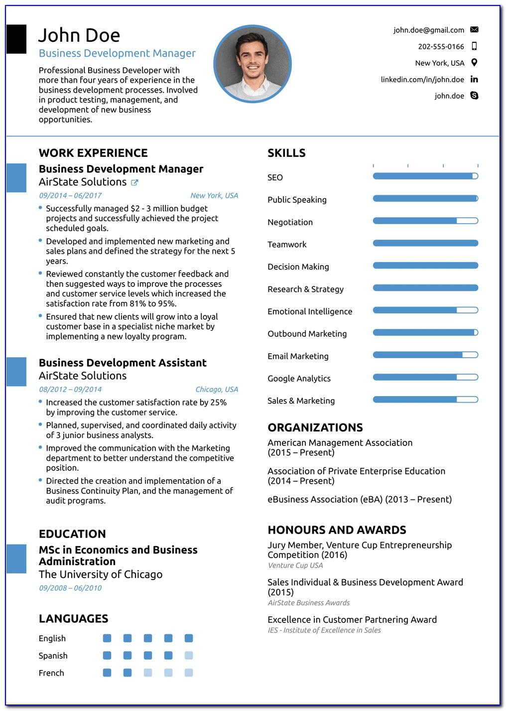 Best Professional Resume Template Word
