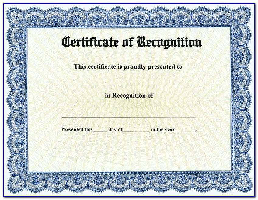 Blank Certificate Award Templates