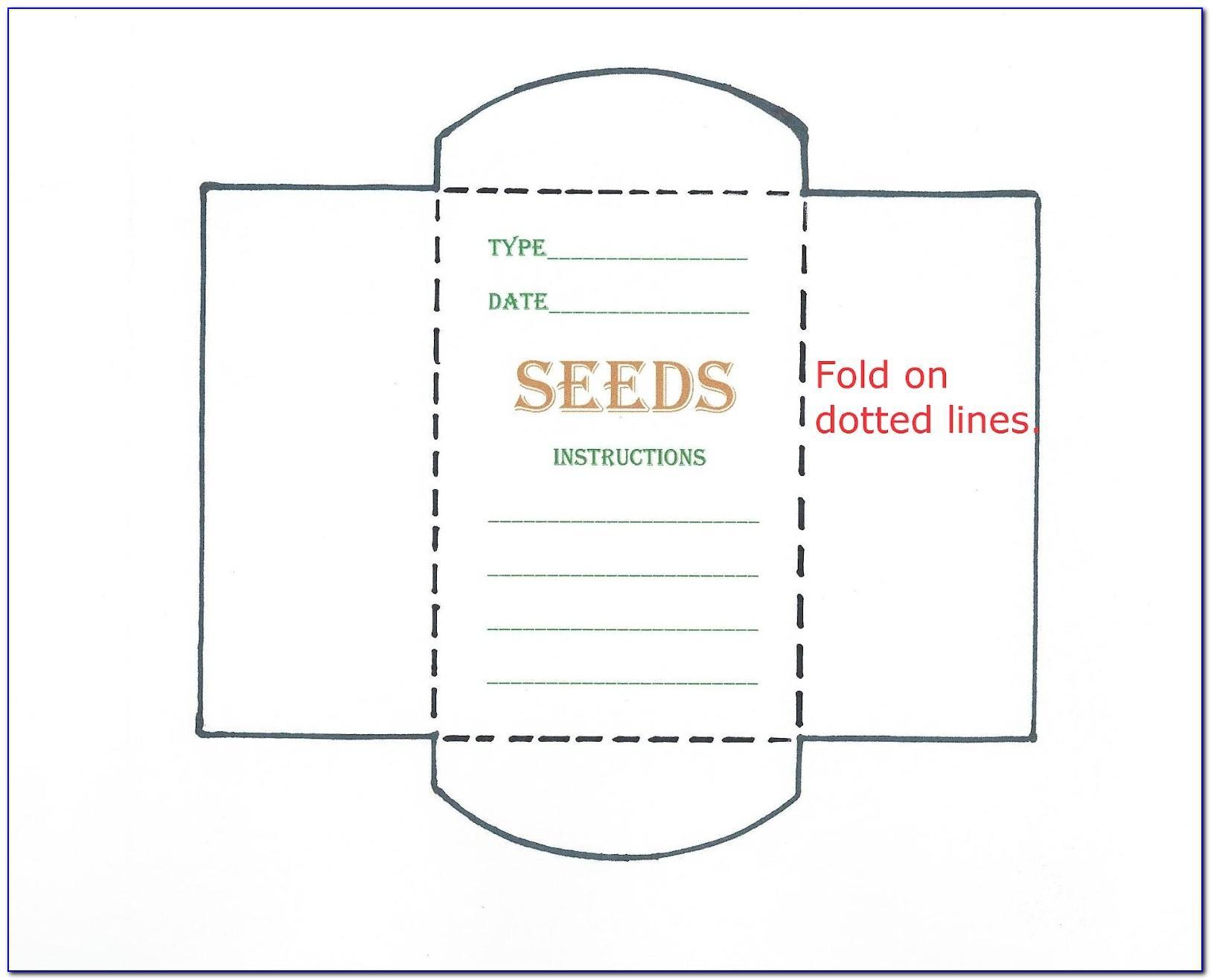 Blank Printable Seed Packet Template