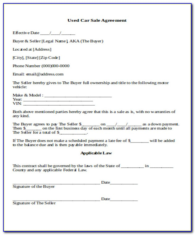Buy And Sell Agreement Template South Africa