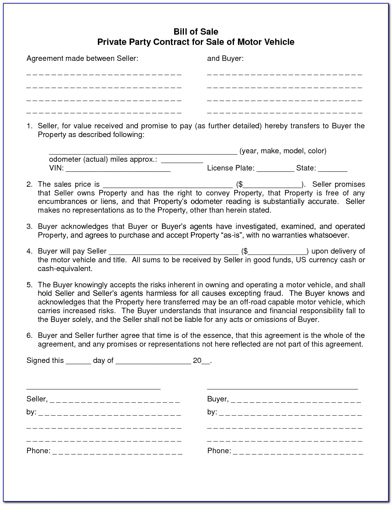 Car Lease Purchase Agreement Template
