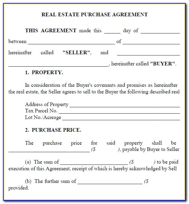 Car Purchase Agreement Template Pdf