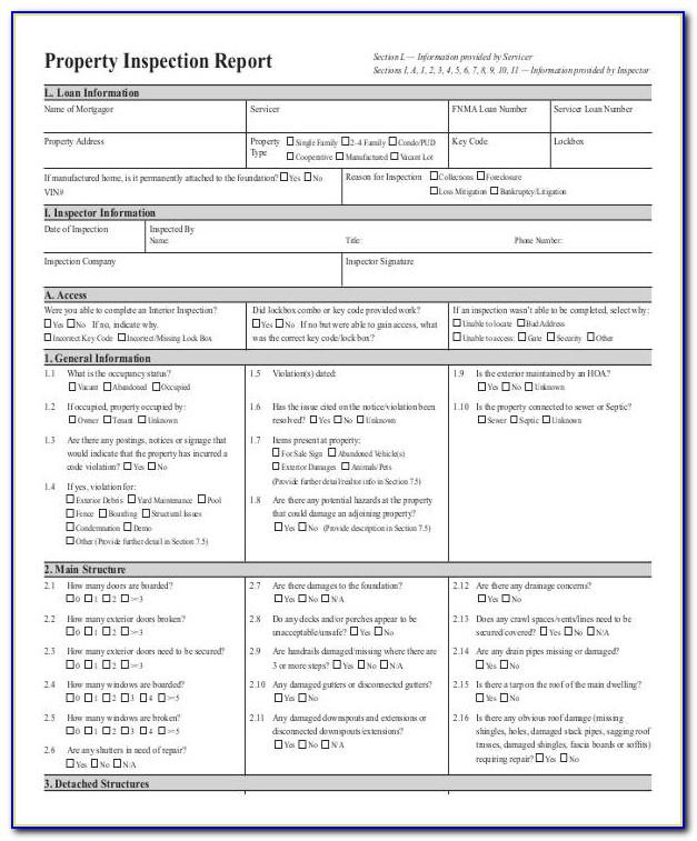 Commercial Property Inspection Report Template Free