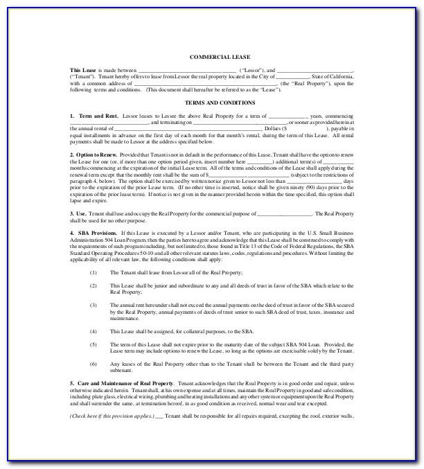 Commercial Property Lease Agreement Template South Africa