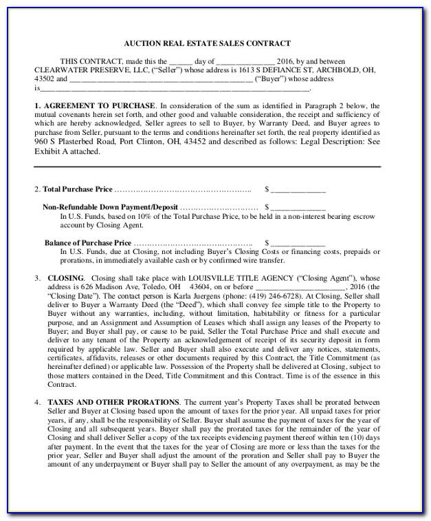 Commercial Property Sale Agreement Template South Africa