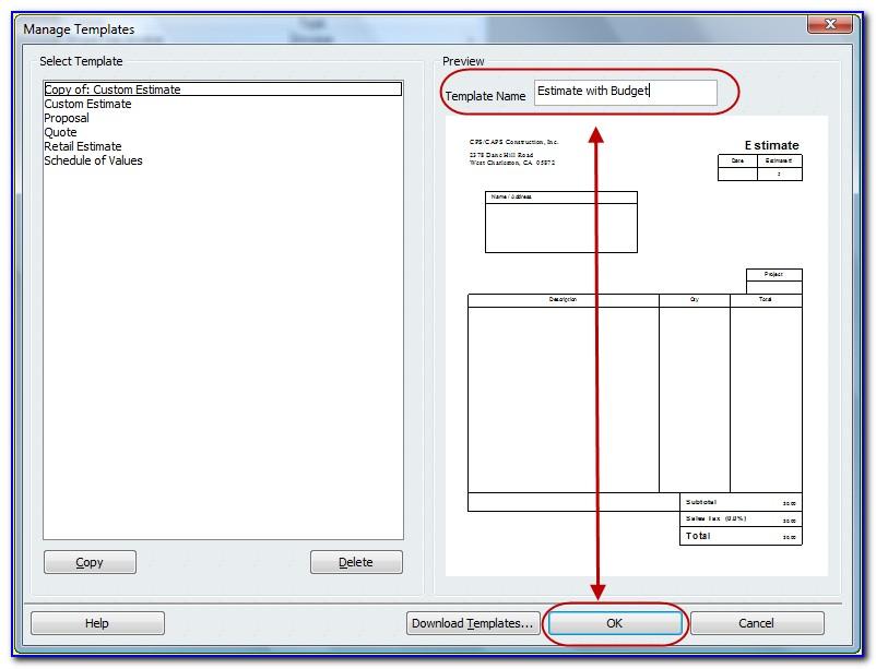 Customize Quickbooks Online Estimate Templates