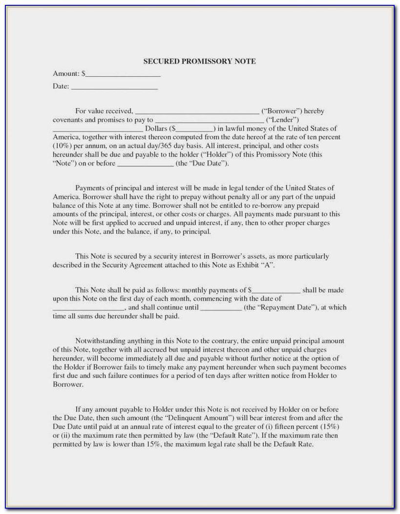 Demand Promissory Note Template Canada