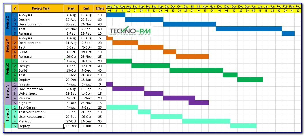 Excel Project Calendar Template 2018