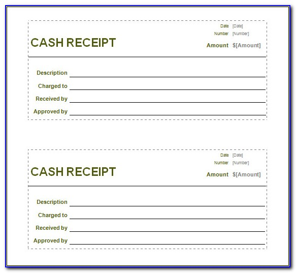 Fillable Cash Receipt Template