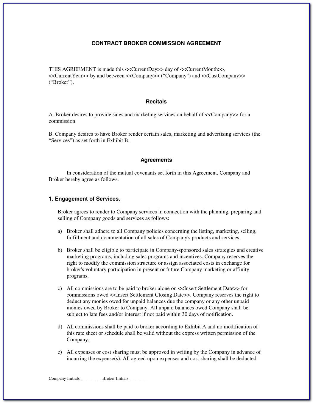 Florida Real Estate Commission Agreement Form