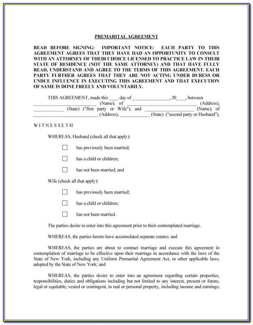 Free Australian Prenuptial Agreement Template