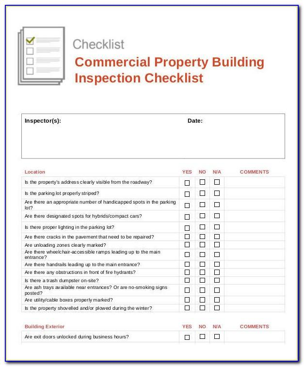Free Commercial Property Condition Report Template