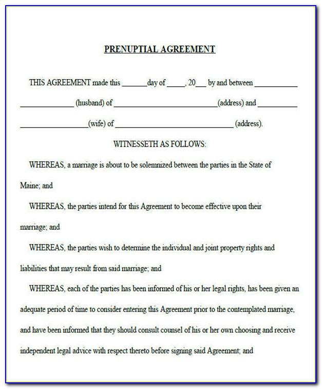 Free Florida Prenuptial Agreement Template