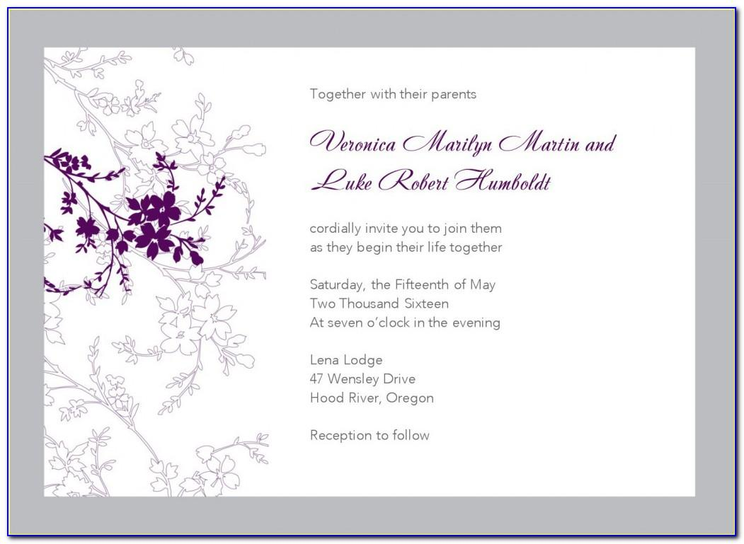 Free Online Printable Wedding Invitation Templates