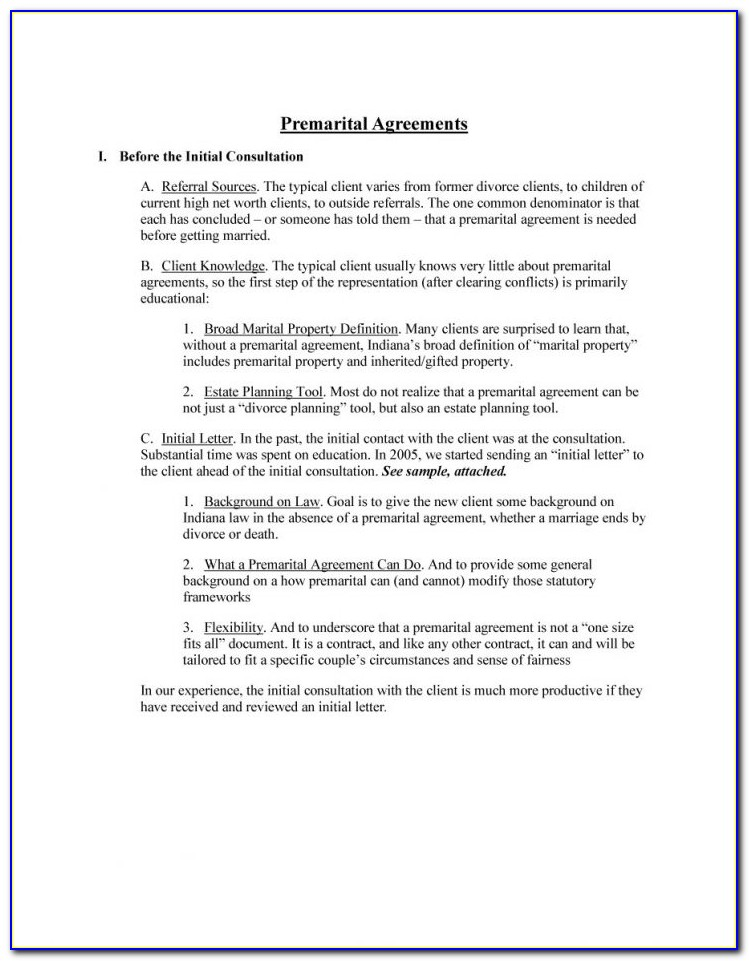 Free Prenuptial Agreement Template Word